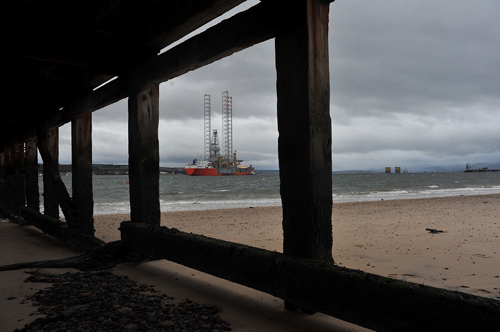 The Prospector-1 rig arrives in the Cromarty Firth.  Pic: David Whittaker-Smith