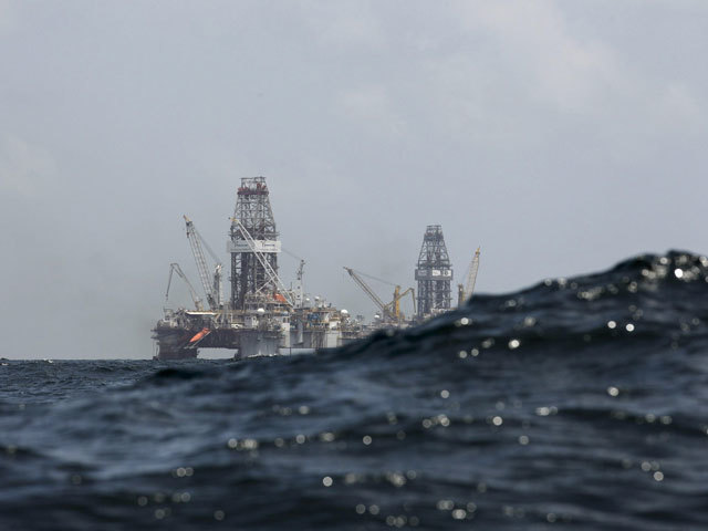 Oil rigs in the Gulf of Mexico