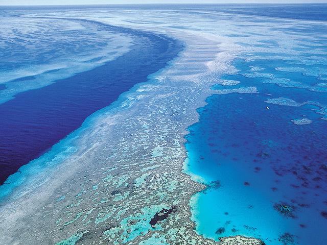 The Great Barrier Reef off Queensland