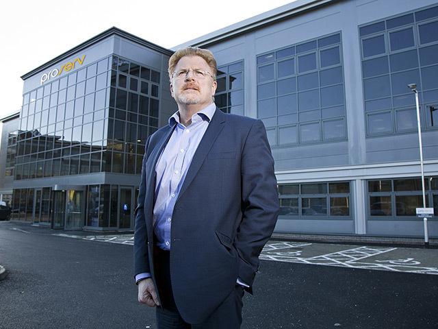 David Lamont at Proserv's new HQ