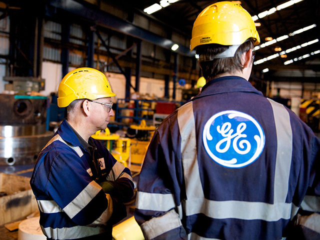 Workers from GE Oil and Gas