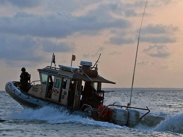 A Cameroon BIR navy patrol