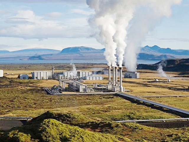 Artist's impression of the Corbetti Caldera geothermal plant