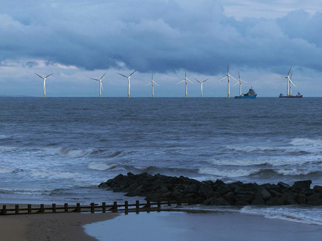 Artist's impression of the proposed Aberdeen Bay wind development
