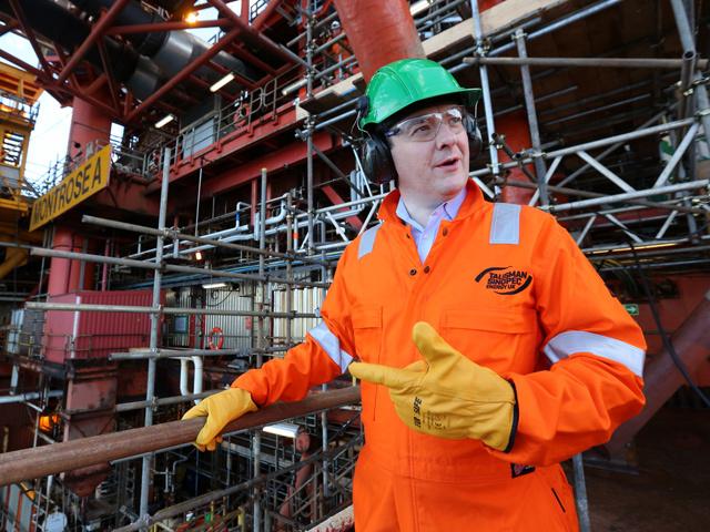 Chancellor George Osborne visits the Montrose platform last year
