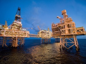 Cnooc International's Buzzard platform in the UK North Sea.
