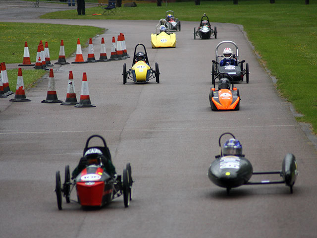 Schools from around Scotland taking part in the Greenpower Challenge