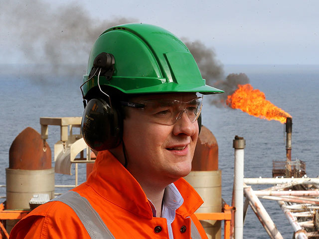 Chancellor of the Exchequer George  Osborne  during a visit to the Montrose Platform in the North Sea