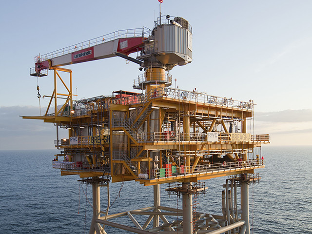 A North Sea platform