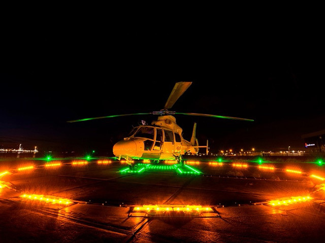 The Orga helideck lighting was developed in collaboration with the Civil Aviation Authority