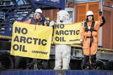 Greenpeace activists have launched a new campaign in the Barents Sea.