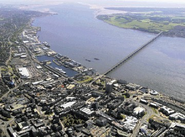 An aerial view of Dundee