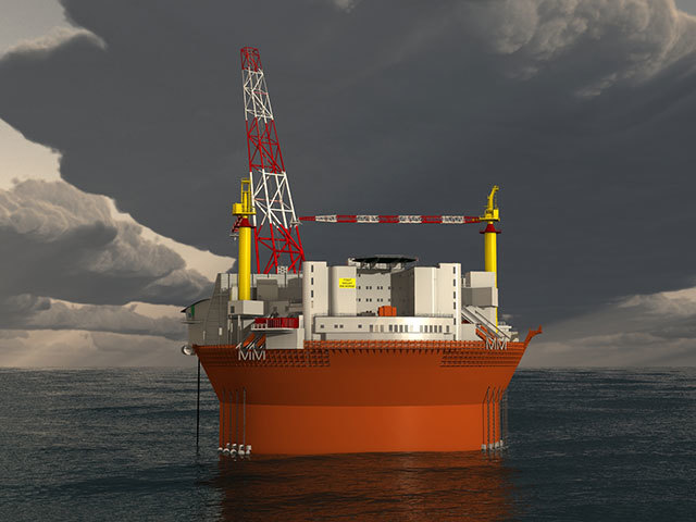 Visualisation of the Goliat FPSO by Eni Norge