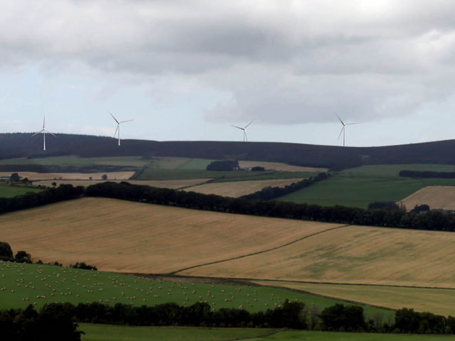 Artist impression of proposed Stony Hill windfarm near Insch by Infinis