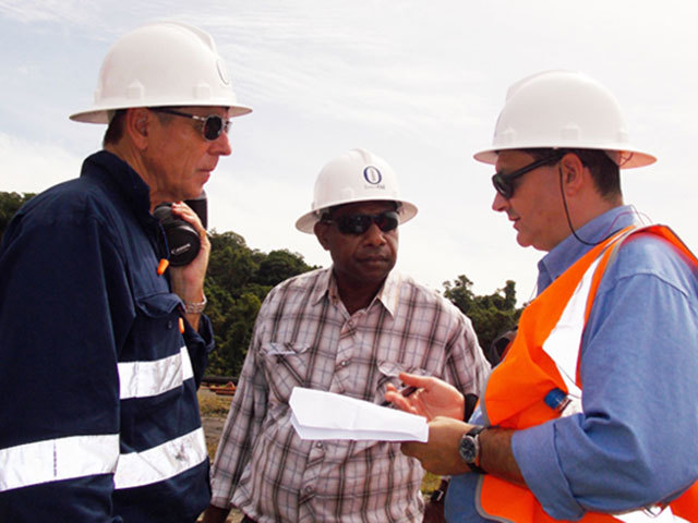 InterOil meeting with Total's PNG vice-president, Marc Geniteau in Papua New Guinea