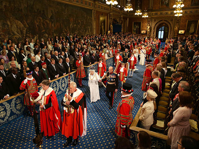 Queen Elizabeth II and the Duke of Edinburgh arrive to the House of Lords ahead of the Queen's Speech