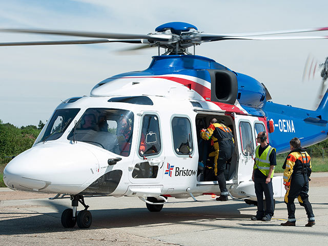 An AW 189 helicopter operated by Bristow.