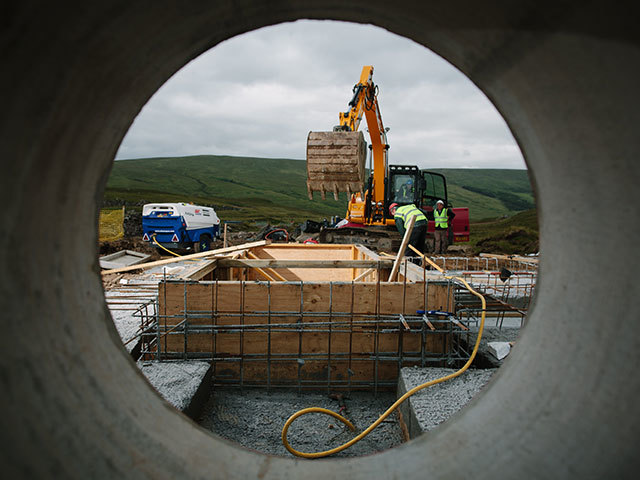 Working going on at a Green Highland Renewables hydro electric site