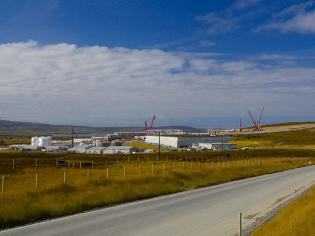 Total Shetland Gas Plant. Photo by Petrofac