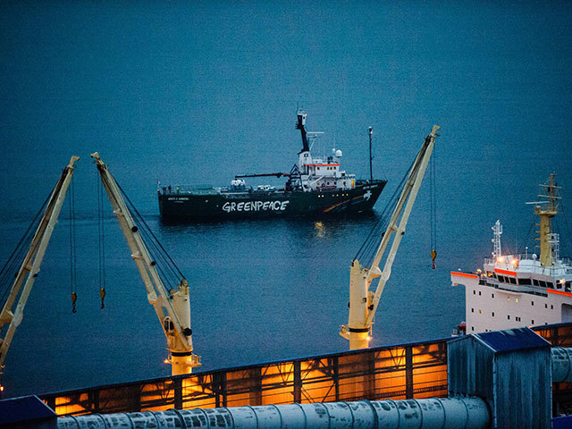 Greenpeace ship Arctic Sunrise departs Murmansk. Photo by Greenpeace