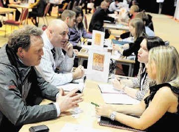 FLASHBACK: One-to-one sessions at a previous Pilot Share Fair at the, Aberdeen Exhibition and Conference Centre
