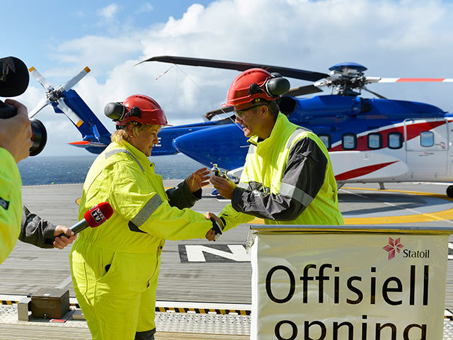 Gudrun was officially opened by the Prime Minister of Norway Erna Solberg. Photo by Statoil