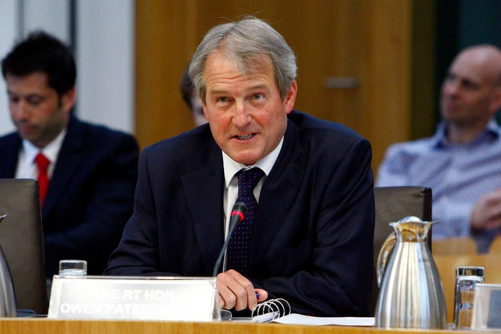 The Rt Hon Owen Paterson MP, Secretary of State for Environment, Food and Rural Affairs, UK Government gives evidence to the Scottish Parliament Rural Affairs, Climate Change and Environment Committee