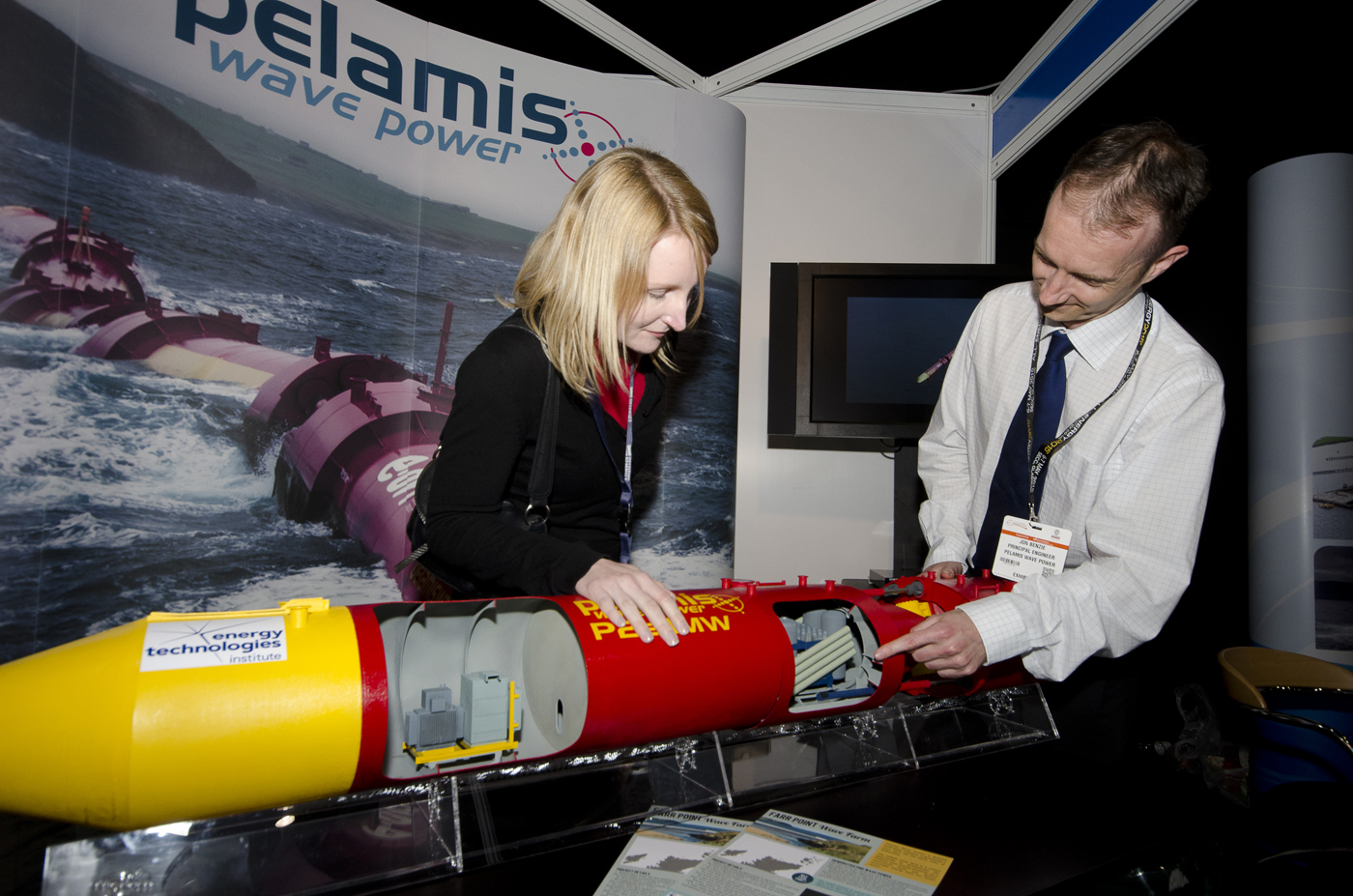 Pelamis at last year's exhibition in Aberdeen