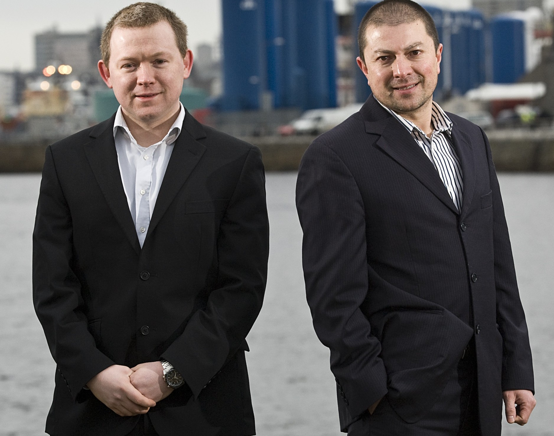 Hugh Mackenzie and  managing director Rob Bain