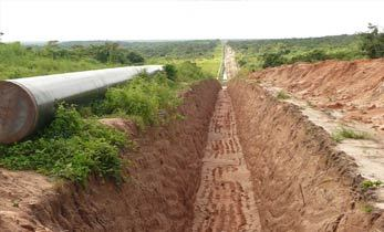 Piipeline to the Kiliwani North gas field in Tanzania