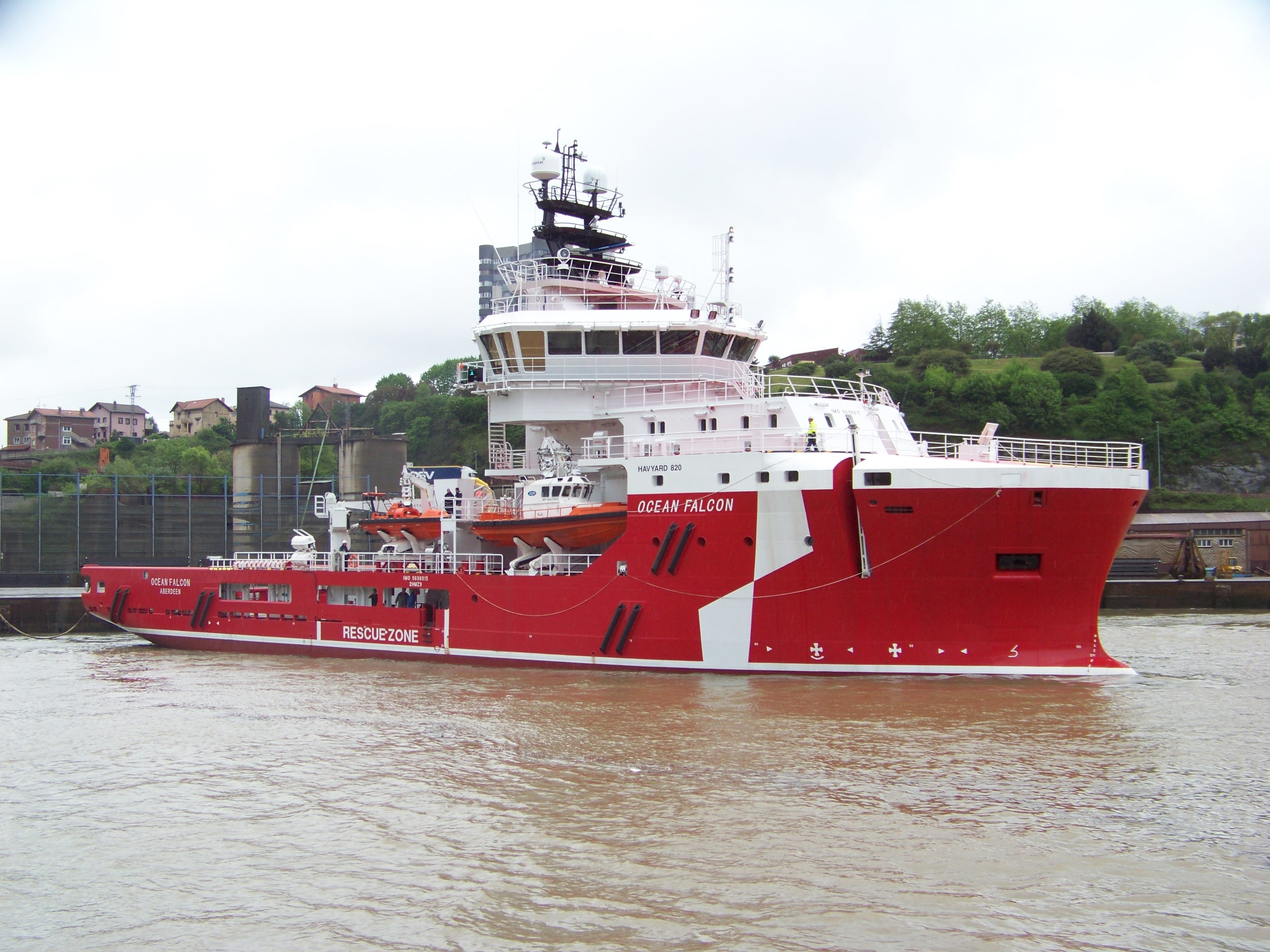 Ocean Falcon, the latest vessel to be launched as part of Atlantic Offshore Rescue's 300 million fleet modernisation programme