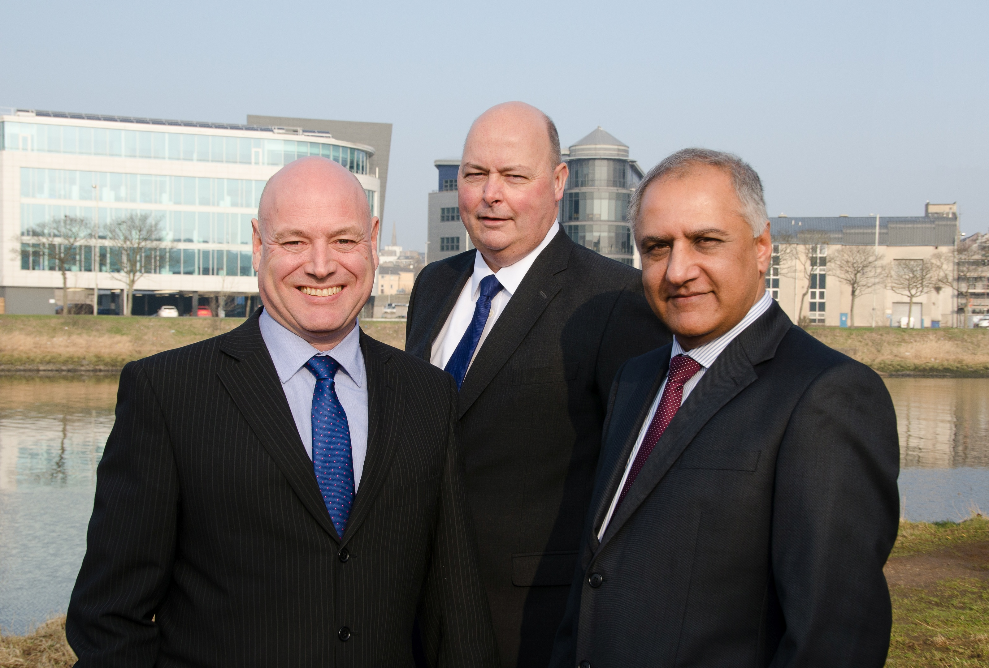From left to right: Managing director John Wilson technical director Colin Bruce and consultancy director Satnam Shoker.