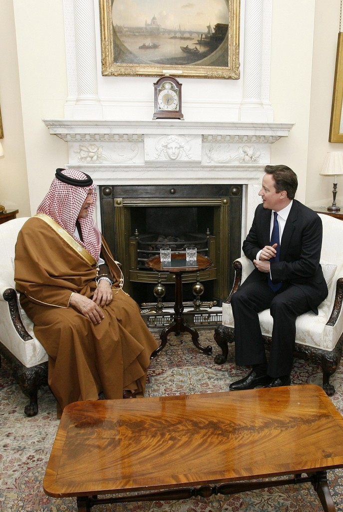 David Cameron has paid tribute to Saudi Arabia's Prince Saud al-Faisal
