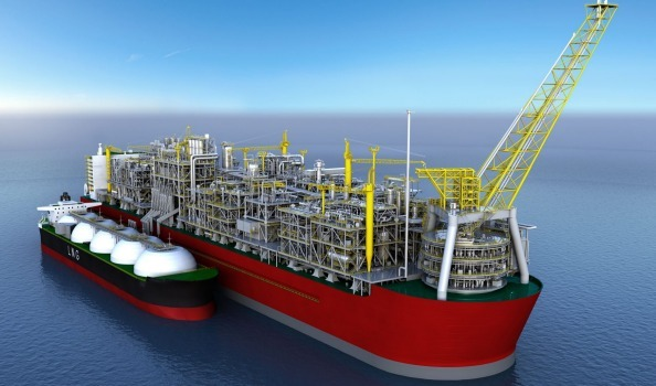 Shell's Prelude floating LNG vessel