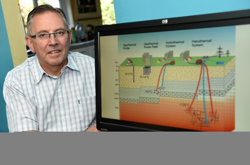 Director of Jigsaw Energy George Wood, is one of the companies behind the Hill of Banchory Geothermal Energy Project.