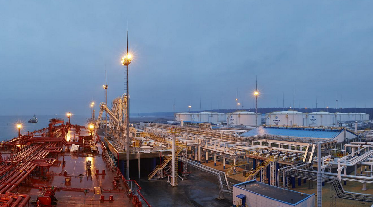 A Novatek facility on Russia's Gulf of Finland coast.