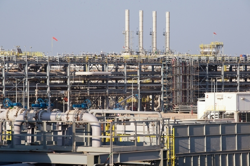 The oil treatment unit at the West Qurna-2 oilfield