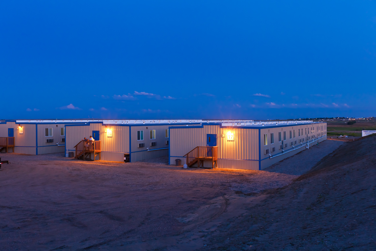 Housing for oil workers in  Williston, North Dakota.