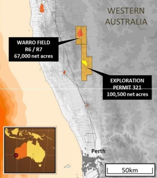 The Warro onshore gas site, Western Australia