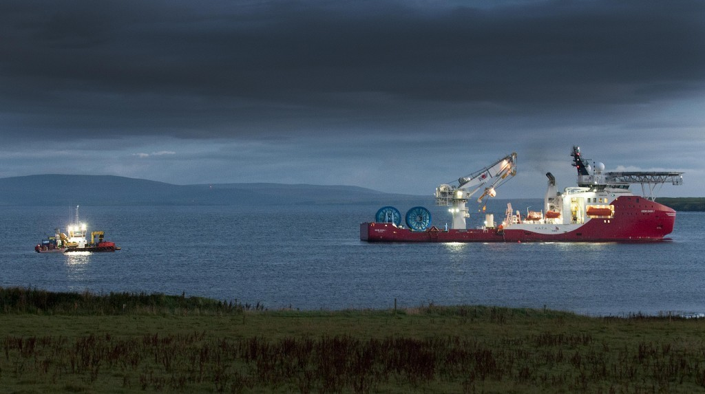 Cables being laid for Atlantis Resources' MeyGen project