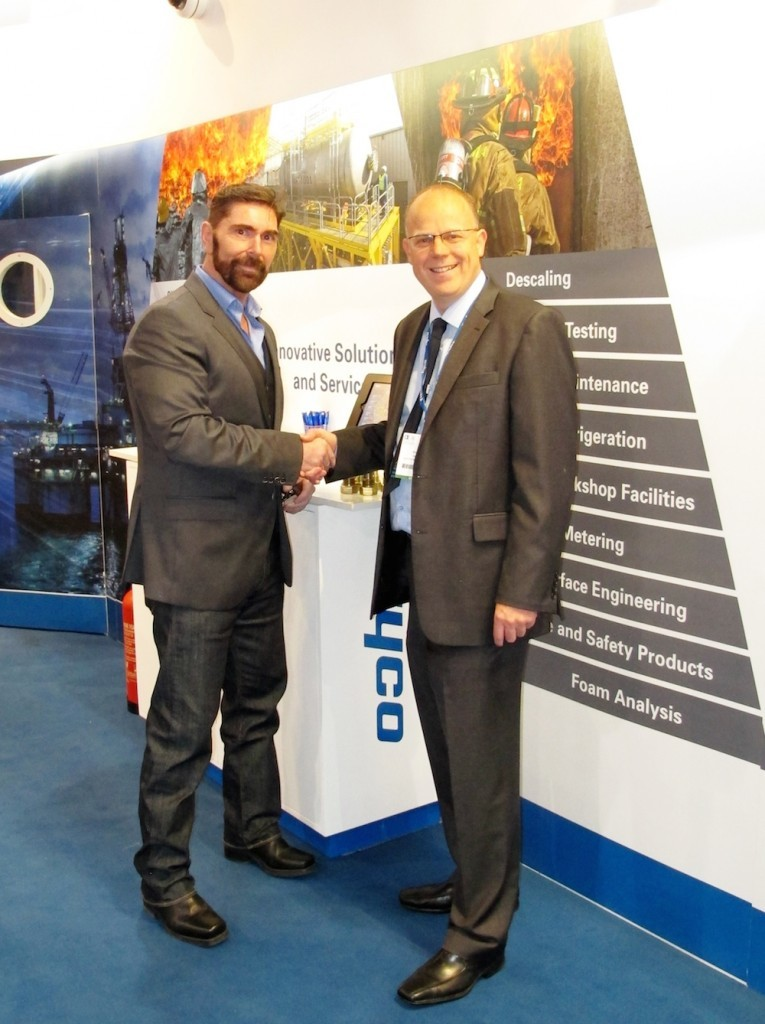 Ian Garden, managing director of RigDeluge and Simon Rooks, Tyco operations director