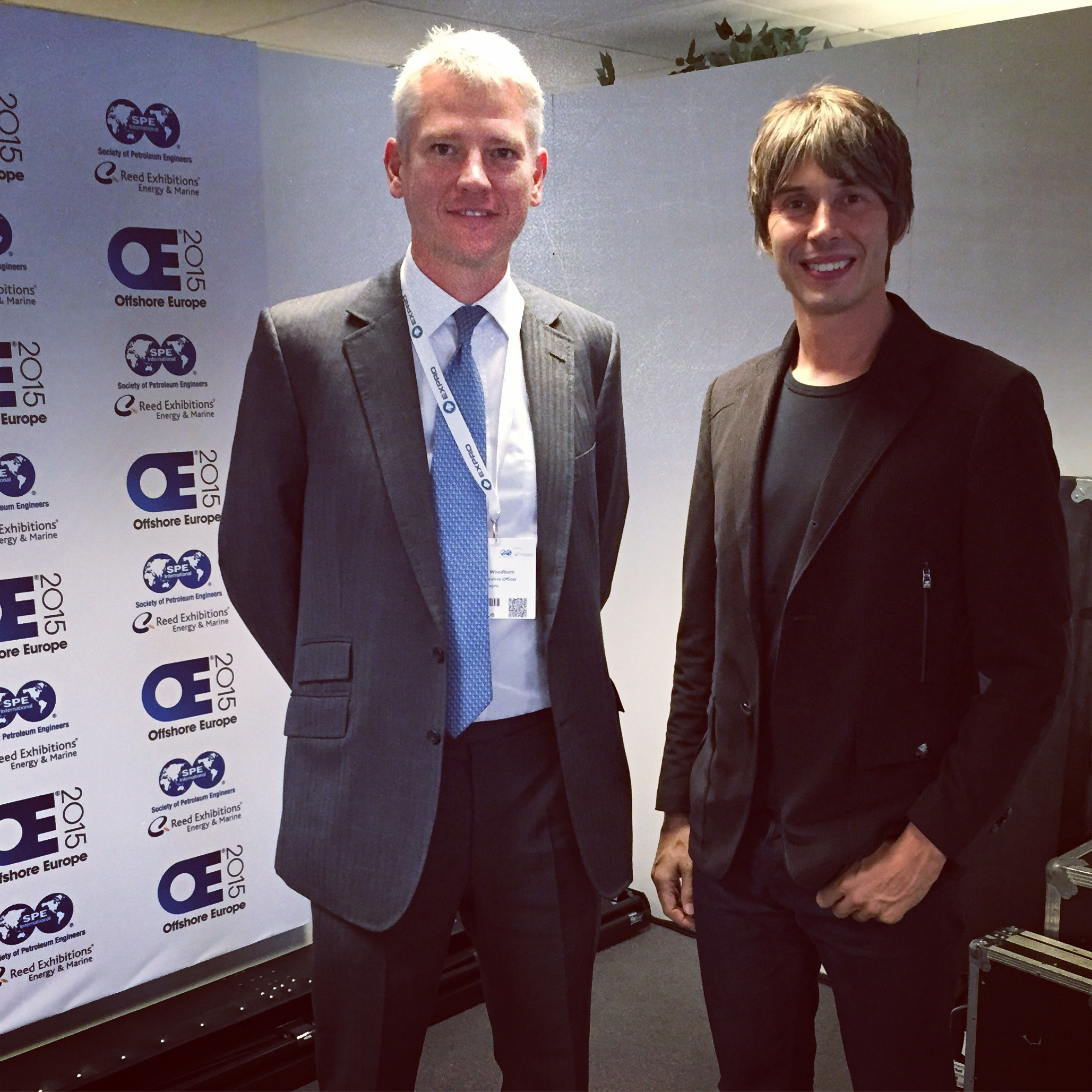 Charles Woodburn with Professor Brian Cox