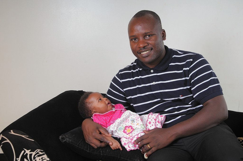 Pictured is baby OPITO with her dad Edgar Tusingwire.  She was named after The Oil and Gas Industry's focal point for skills, learning and workforce development, OPITO  09/10/15