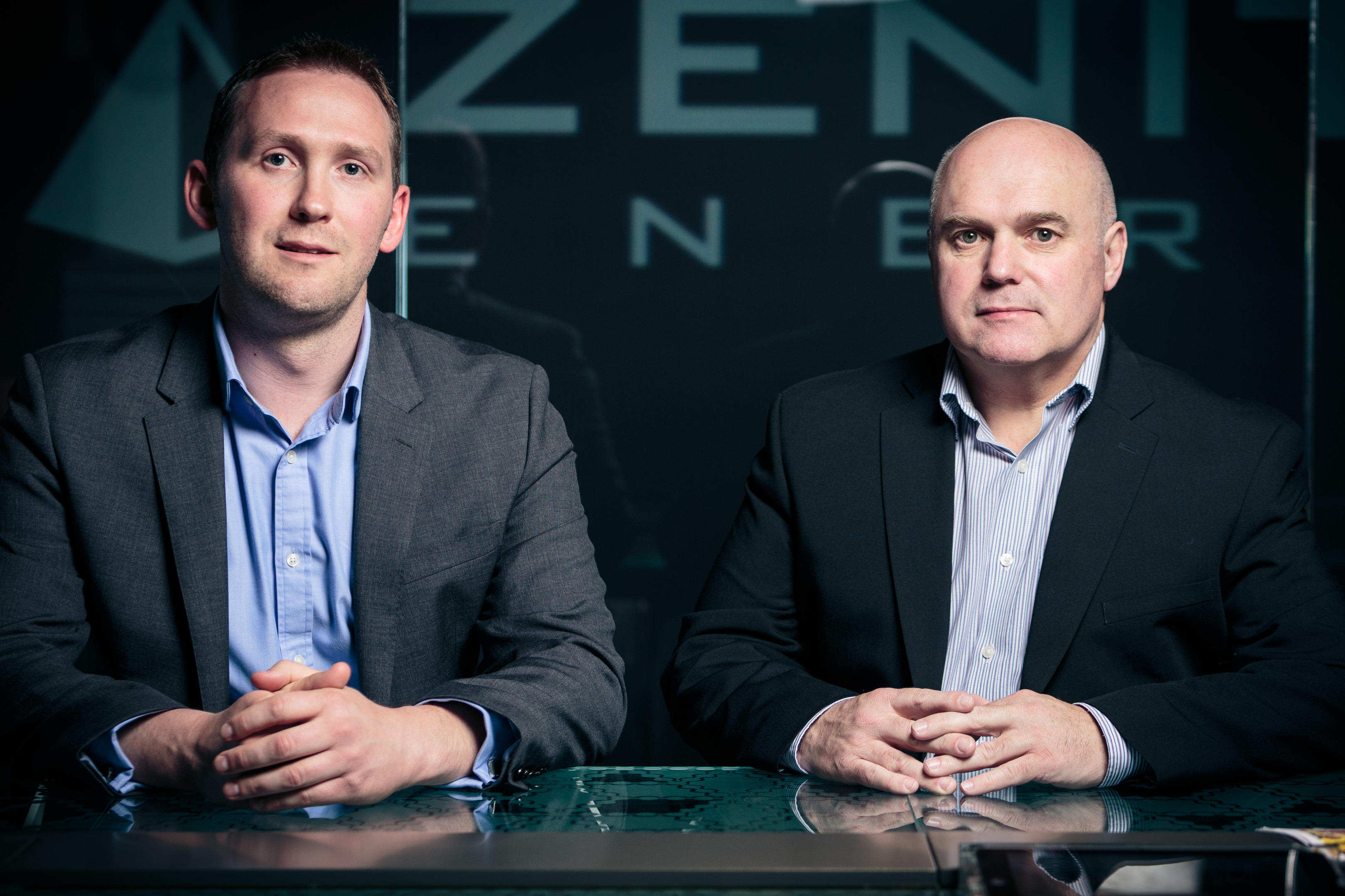 Martin Booth (left), managing director and Chris Collie, operations director of Zenith Energy