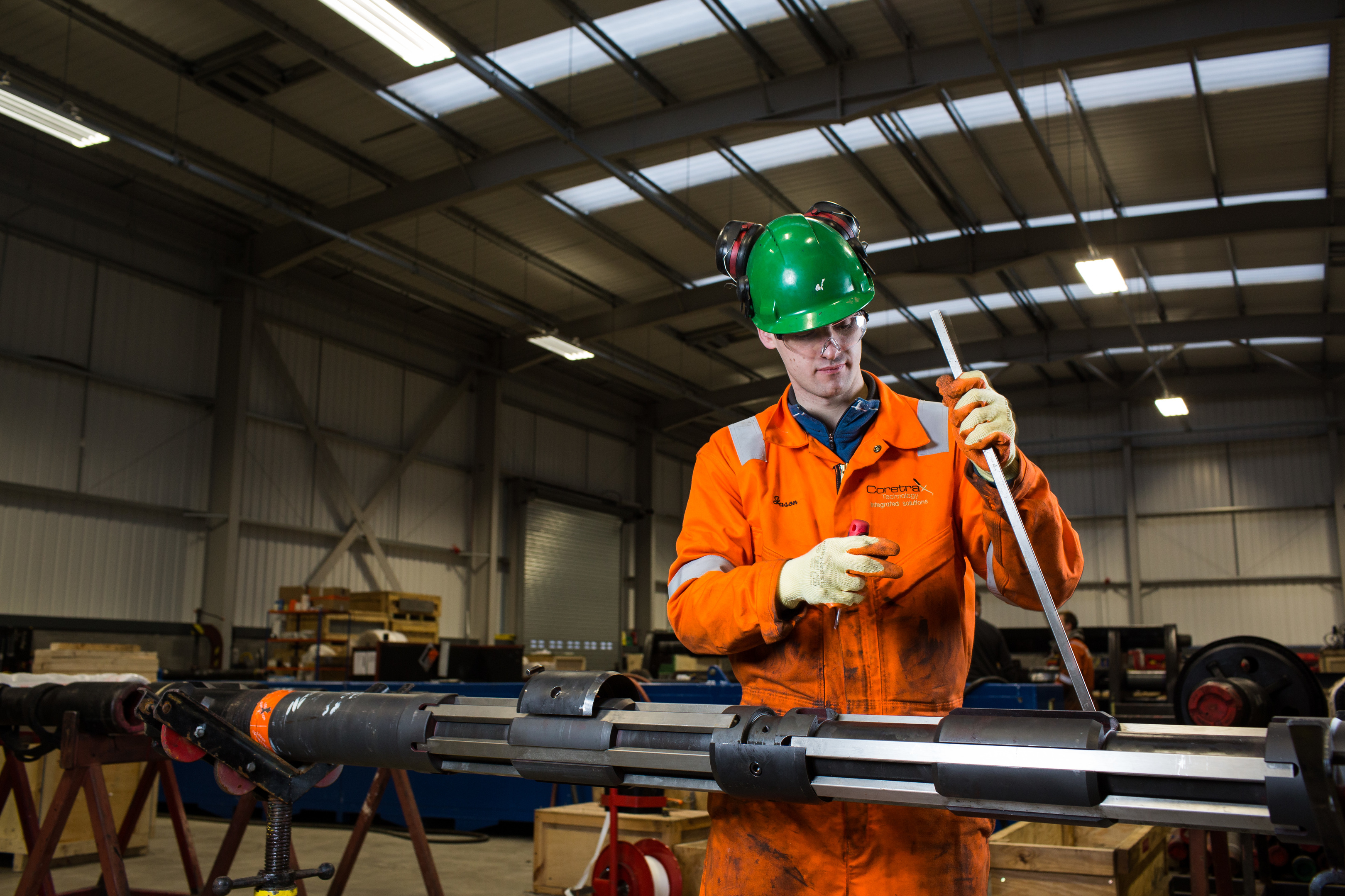 An engineer at work at Coretrax's Aberdeen facility.