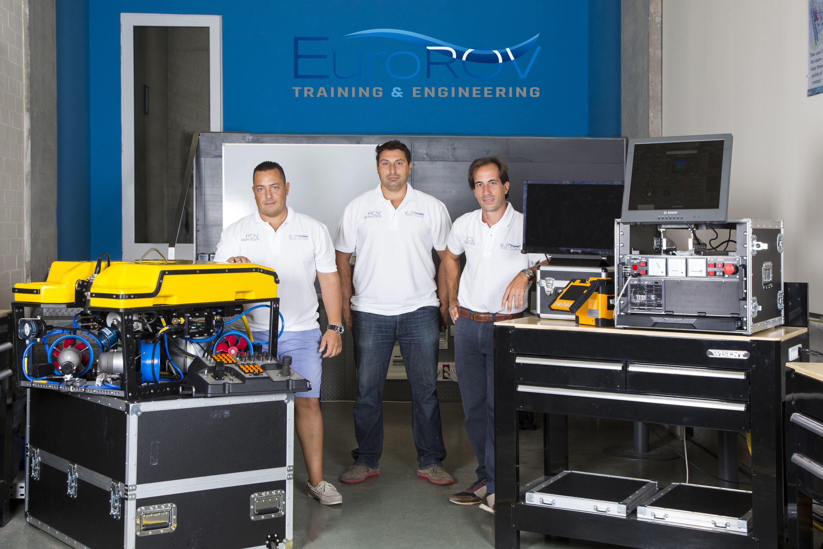 EuroROV co-founders, Sebastain Ruiz, Adrian Tramallino, Sebastian Ruggirello