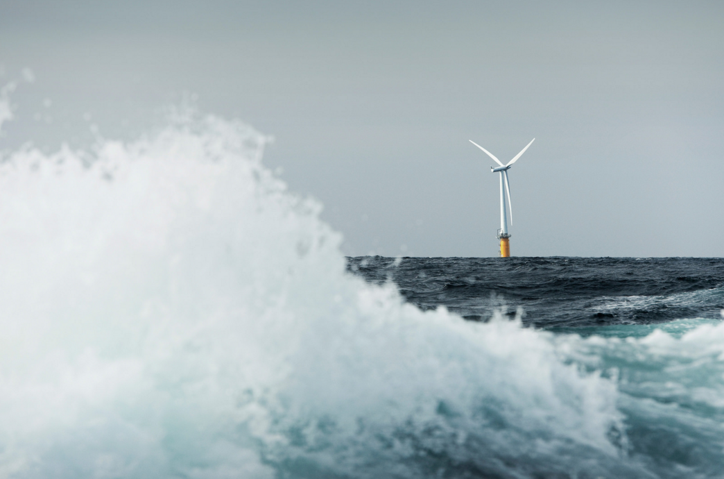 A floating wind turbine