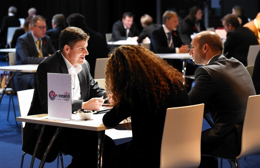 Delegates taking part in one-to-one interviews at OGUK's annual Share Fair.