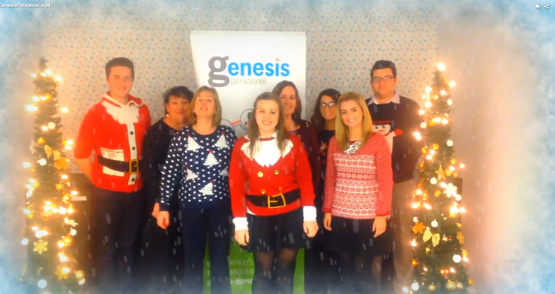 Christmas Wishes from Genesis Personnel