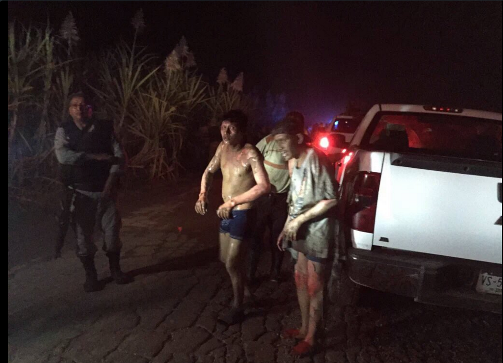 Those injured at the scene of the pipeline explosion